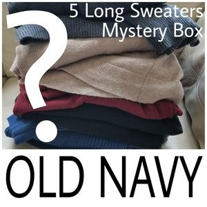XXL Old Navy Longline 5 Sweaters Mystery Box Deal